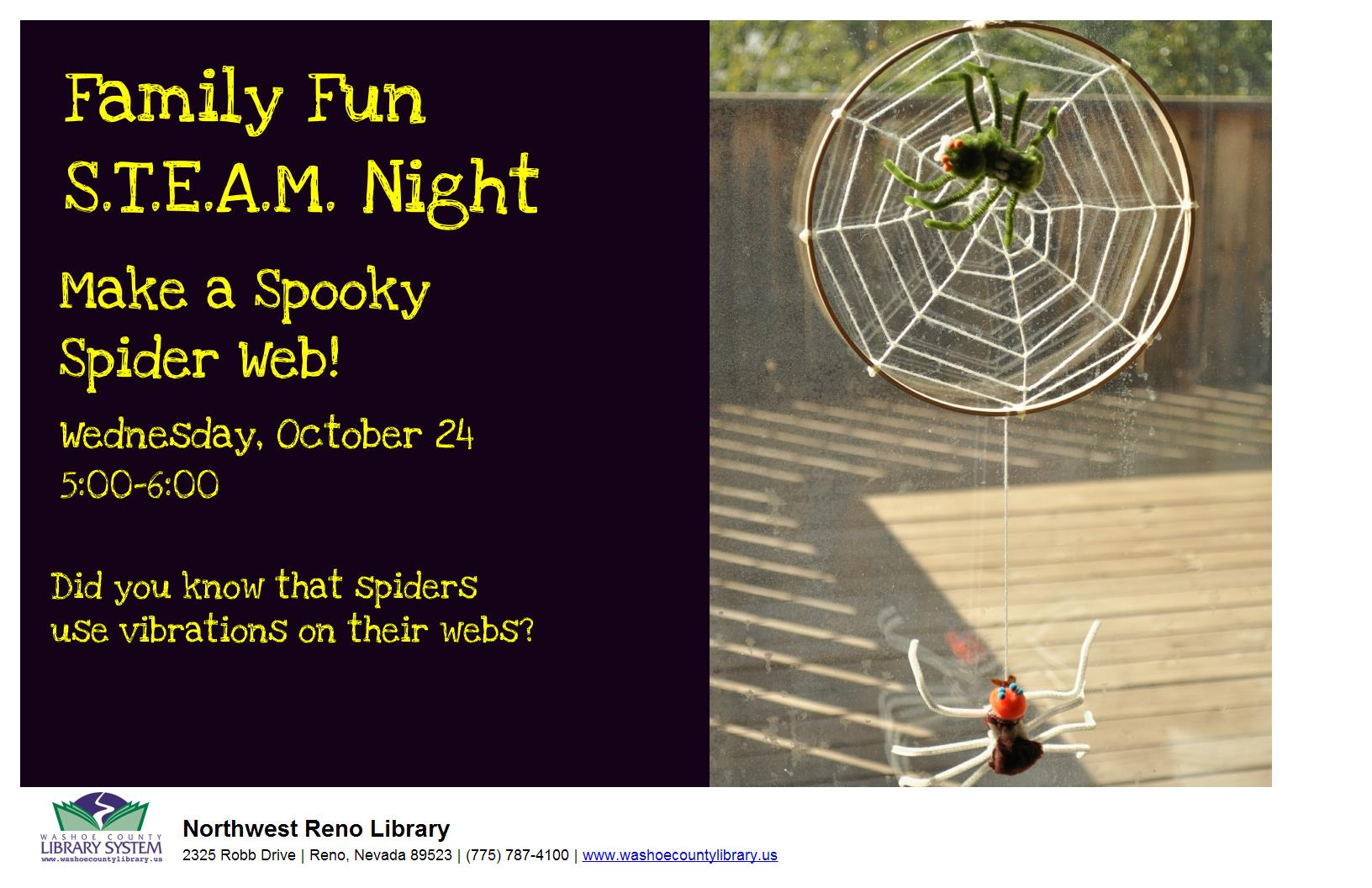 Family Fun STEAM Night: Make a Spooky Spider Web