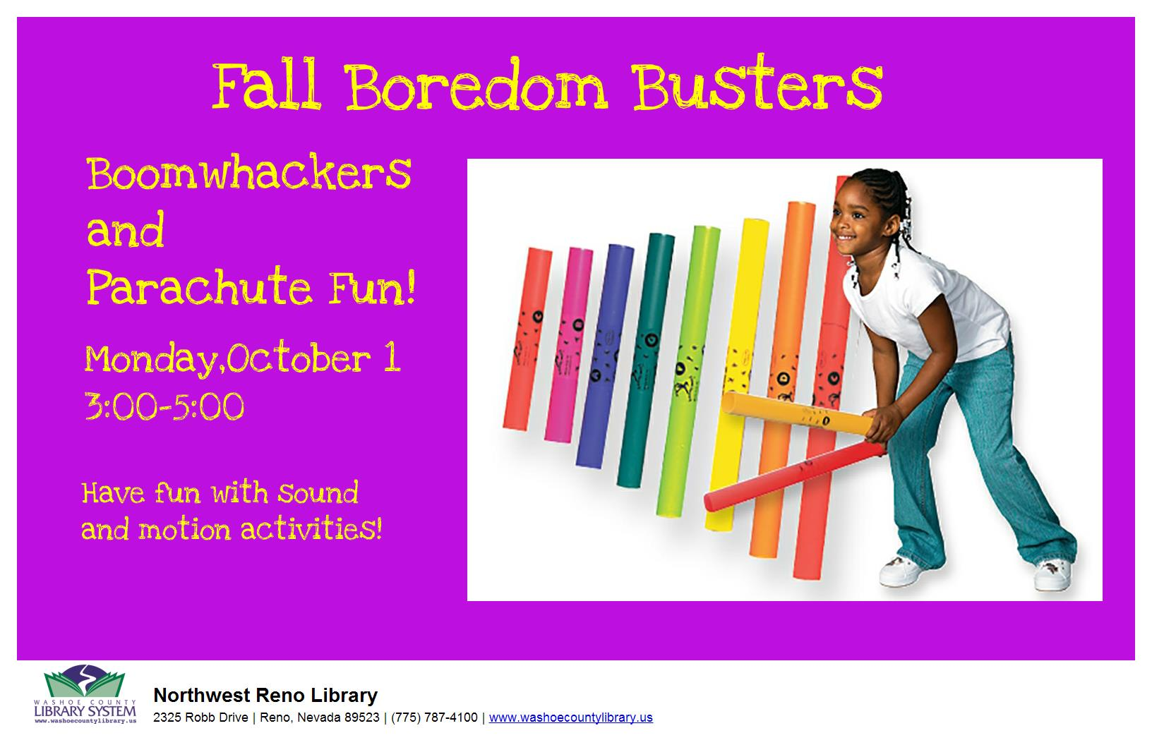 Boredom Busters! Boomwhackers® and Parachute Fun!