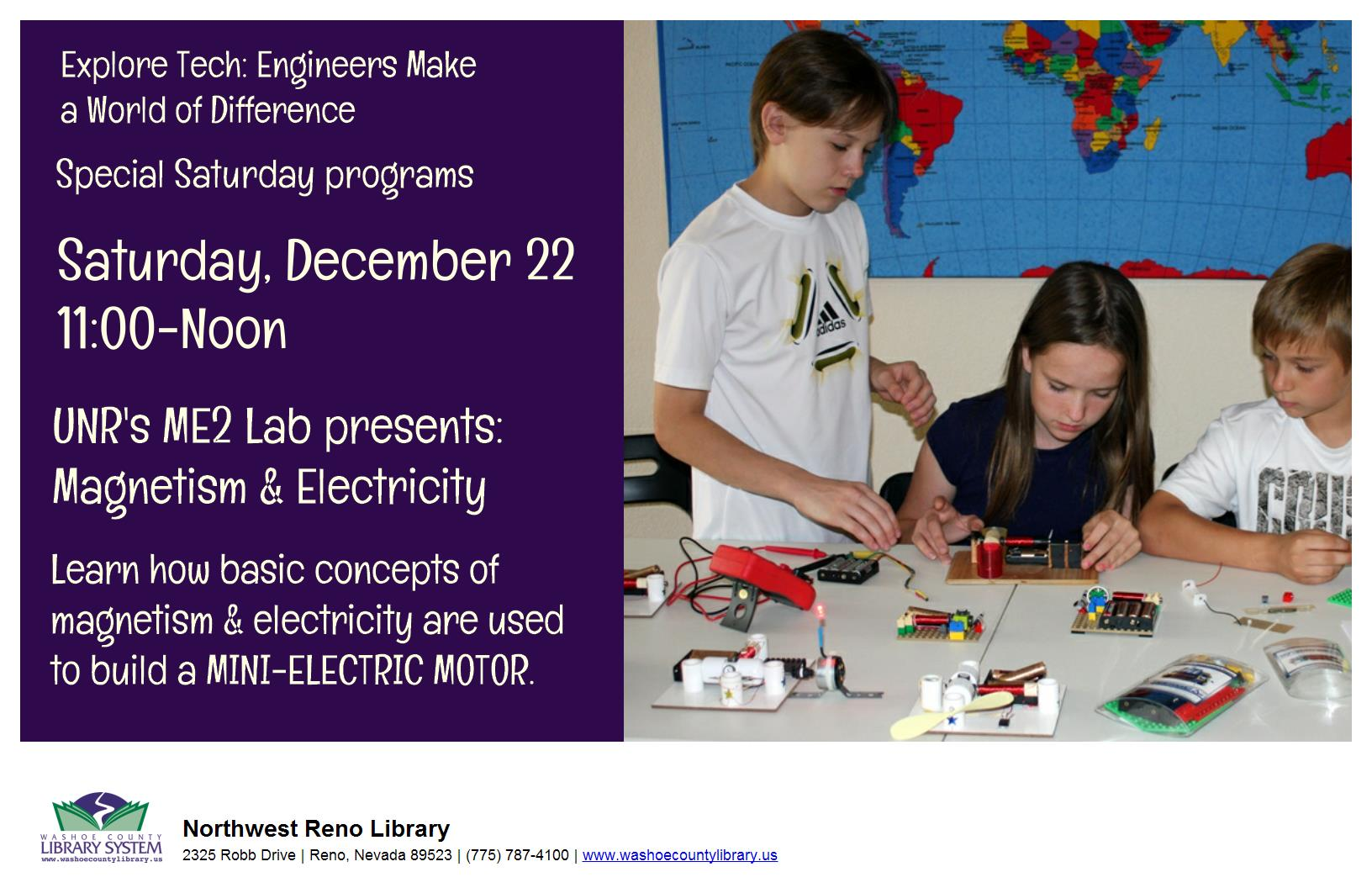 ME2 Lab Presents:Magnetism and Electricity