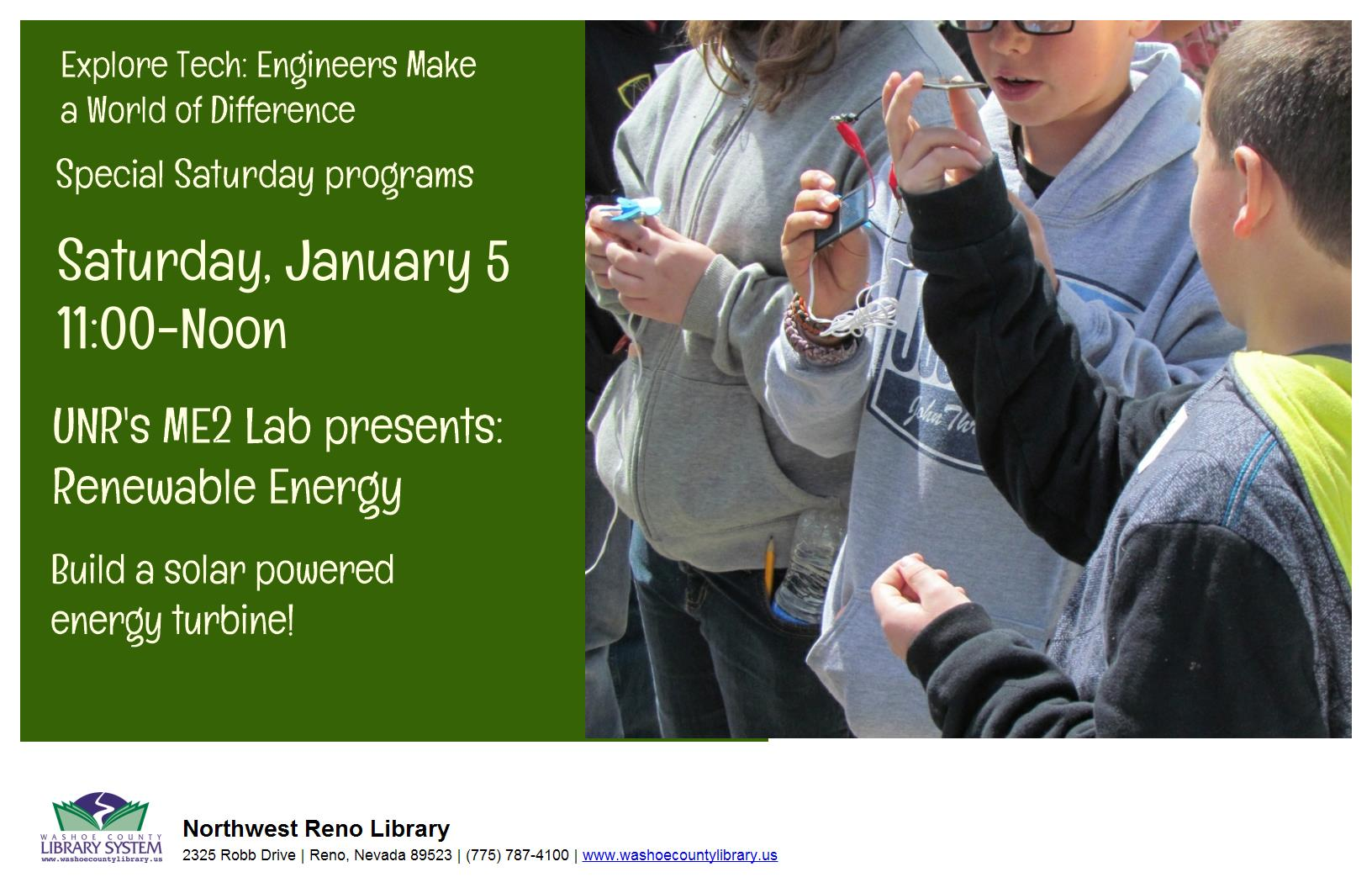 ME2 Lab Presents: Renewable Energy