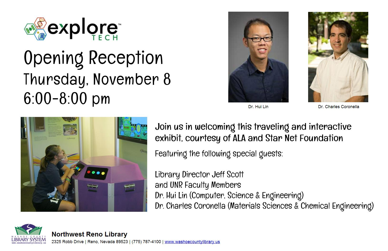 OPENING RECEPTION: Explore Tech: Engineers Make a World of Difference