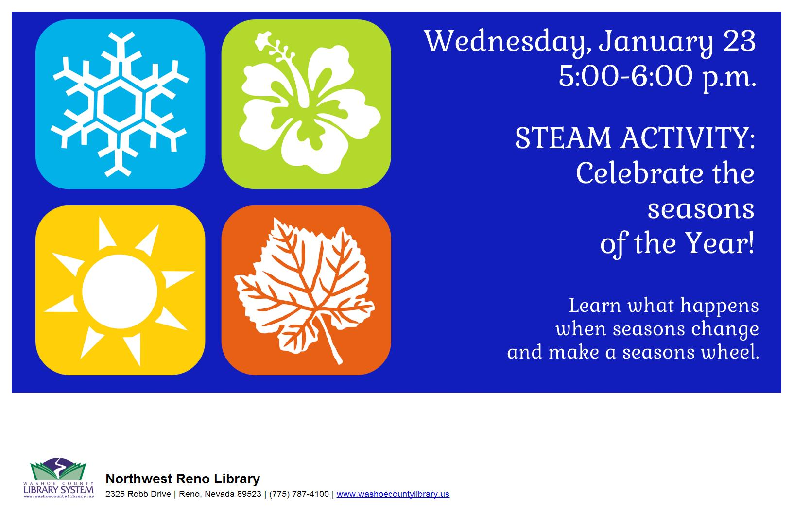 Family Fun STEAM Night!  Celebrate the Seasons of the Year!