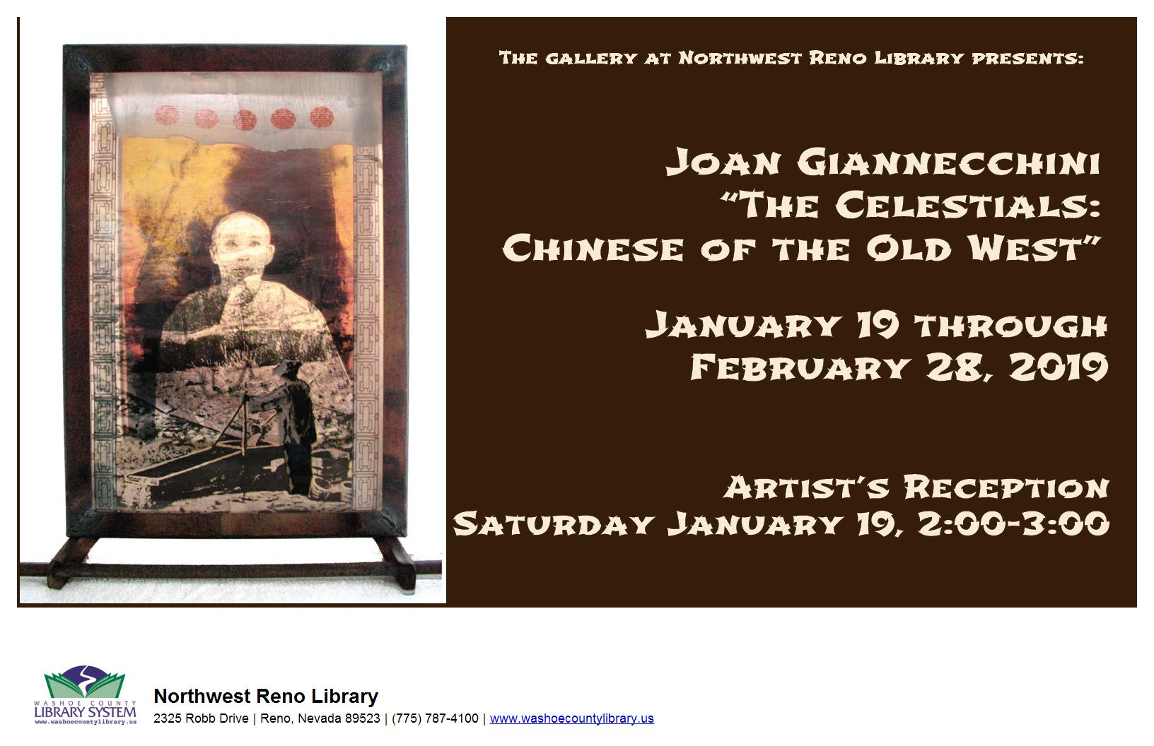 "Artist Reception: Joan Giannecchini  ""The Celestials: Chinese of the Old West"""