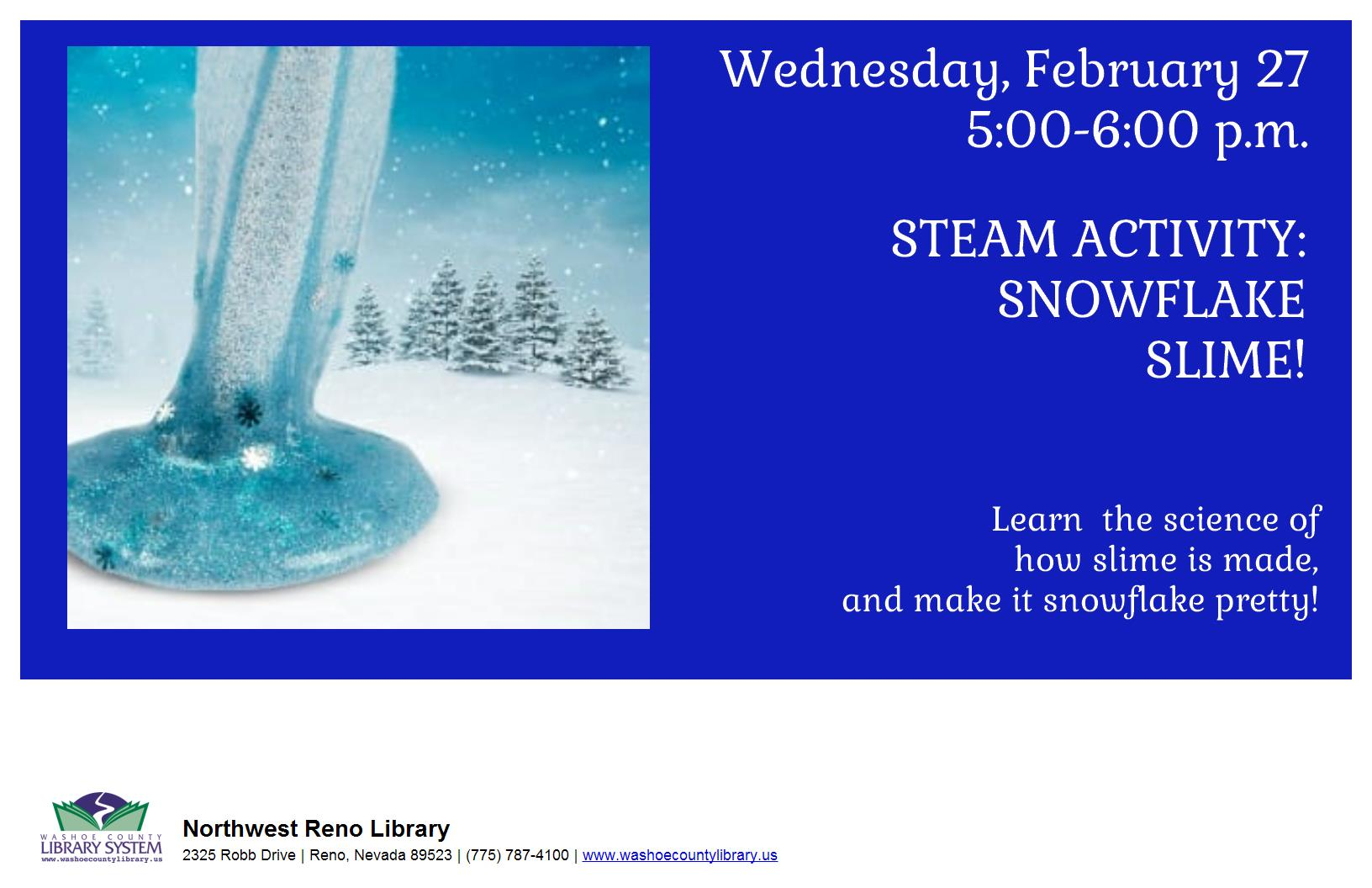 Family Fun STEAM NIGHT! Snowflake Slime