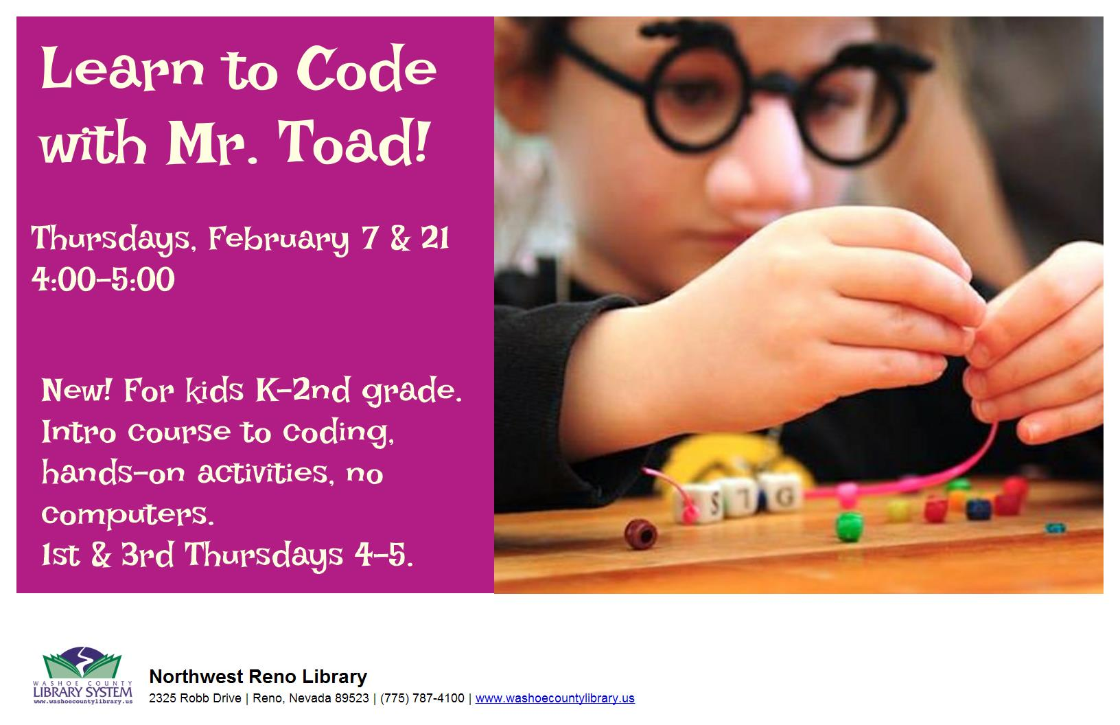 Learn to Code with Mr. Toad