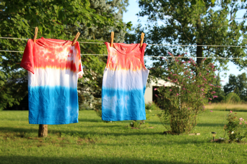 Red, White & Blue Tie-Dye