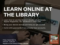 Learn Online at the Library