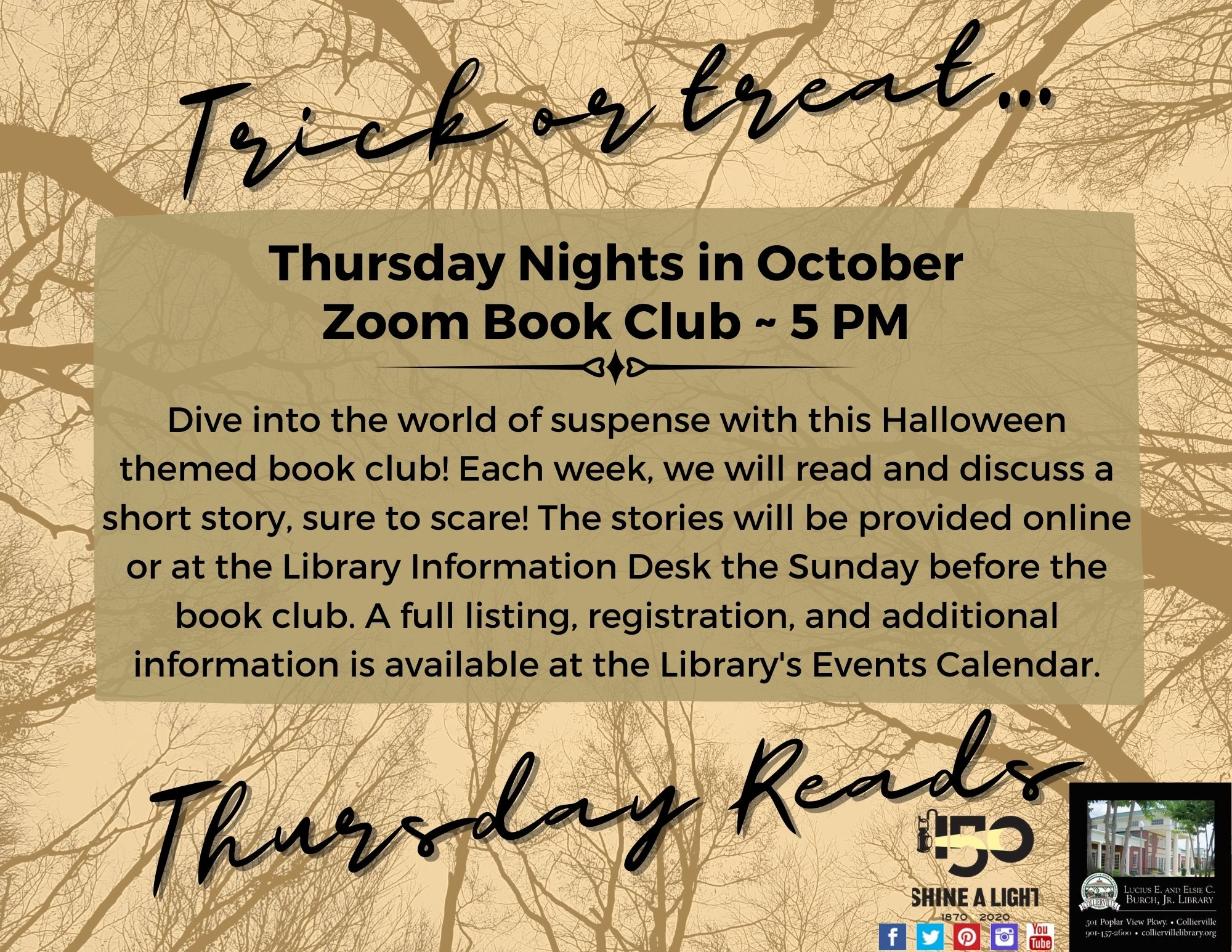 Trick or Treat Thursday Reads