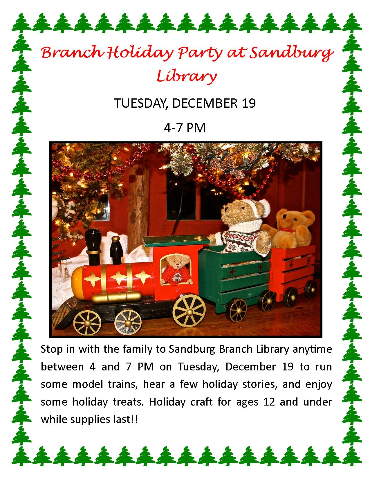 Branch Holiday Party at Sandburg Library