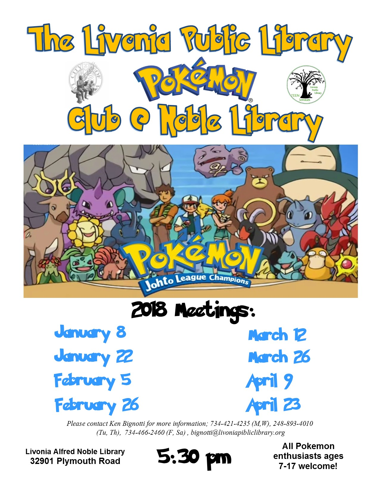 Noble Library Pokemon Club