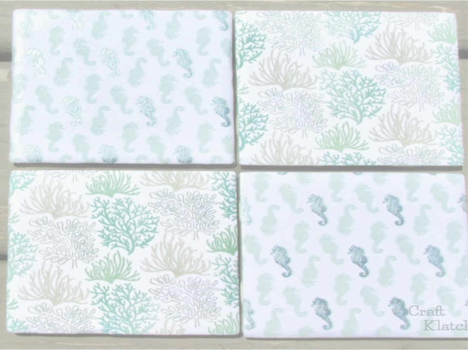 CANCELLED--Scrapbook Tile Coasters