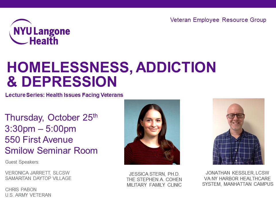 Homelessness, Addiction & Depression - Lecture Series