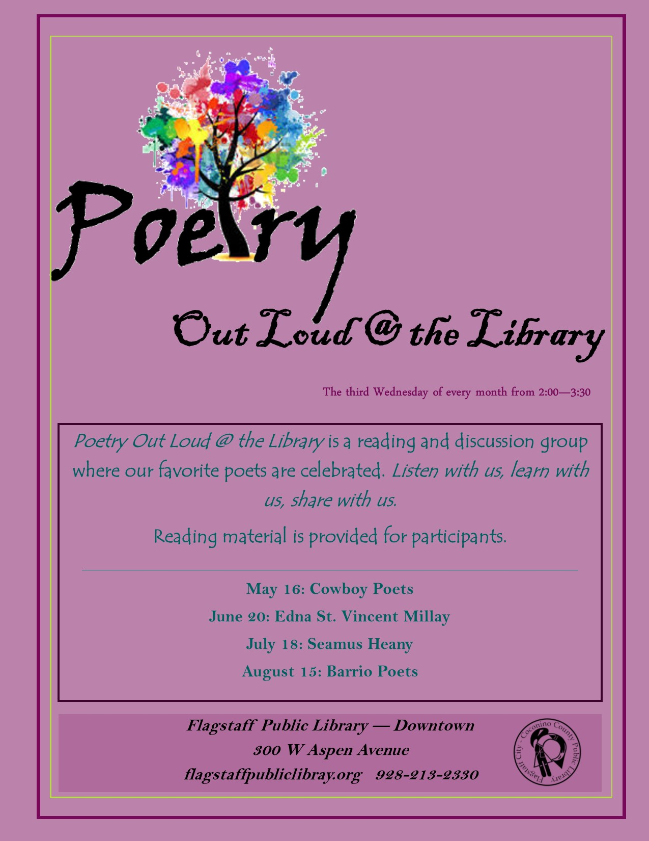 Poetry Out Loud @ the Library