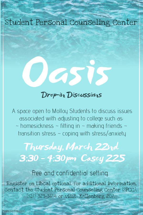 FREE! Oasis Drop-In Discussions for All Students