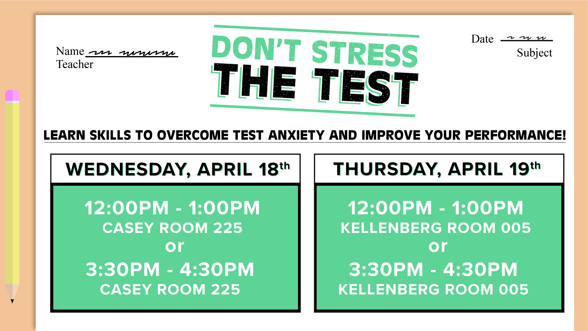 Don't Stress the Test