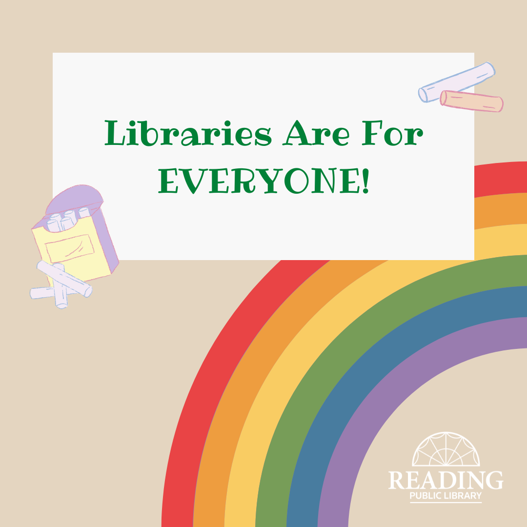 Libraries Are For Everyone: Chalk Event