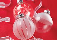 Etching Glass Ornaments