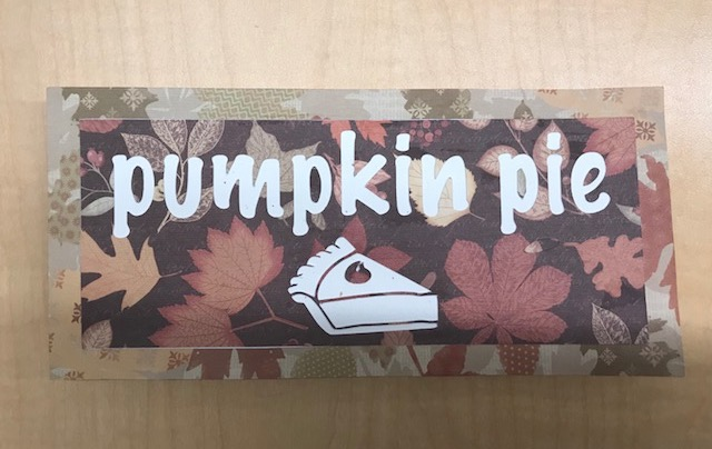 Beginning Silhouette Cameo: Thanksgiving Food Signs (ages 13+)