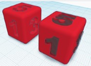 Family Beginning Tinkercad 3D Design: Board Game Dice