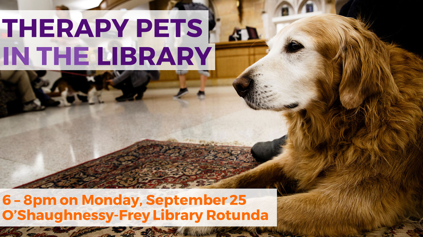 Therapy Pets in the Library!
