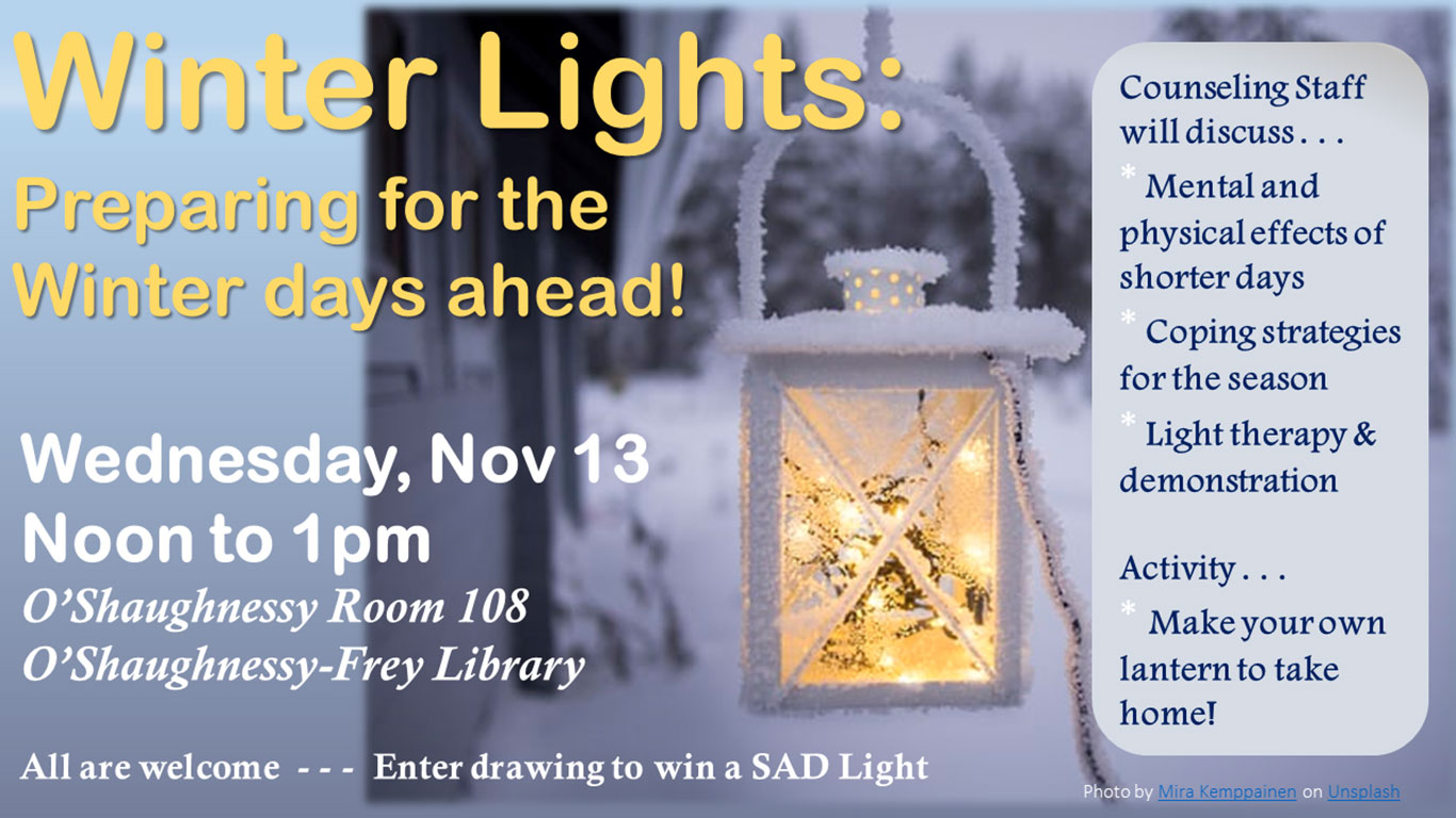 Winter Lights: Preparing for the Winter Days Ahead!