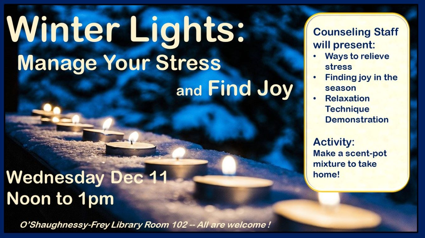 Winter Lights: Managing Stress and Finding Joy