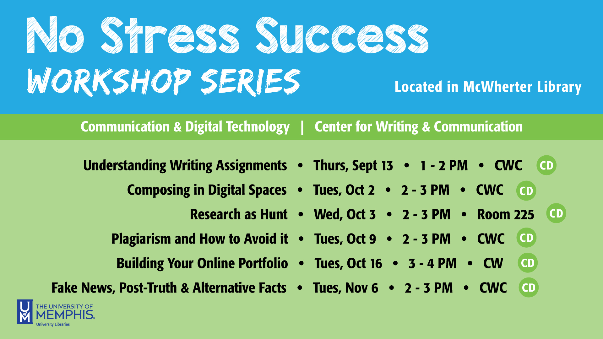 No Stress Success Workshop: Research as Hunt
