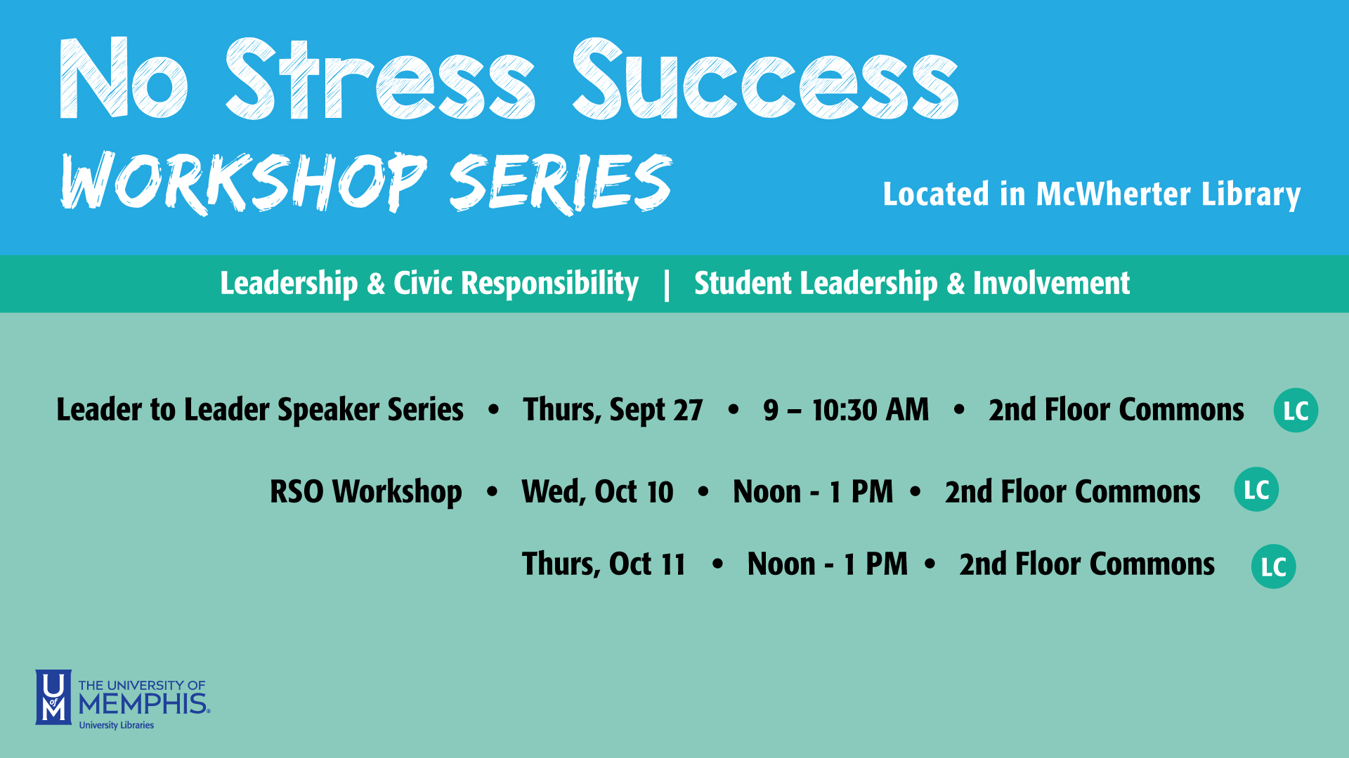 No Stress Success Workshop: RSO Workshop