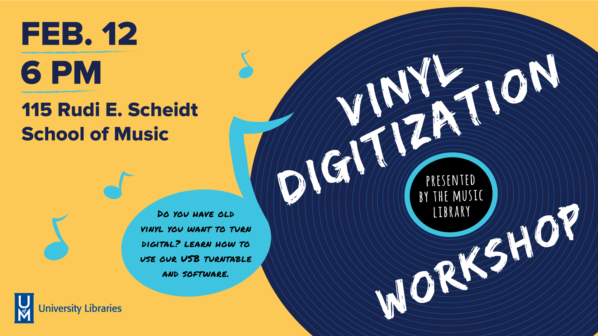 Vinyl Digitization Workshop