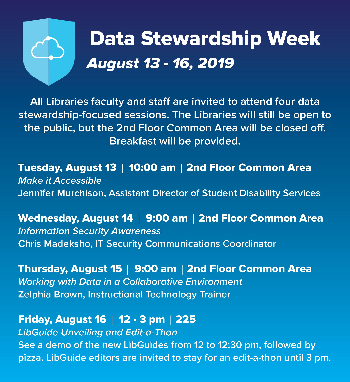 Internal Libraries' Data Stewardship Week Event