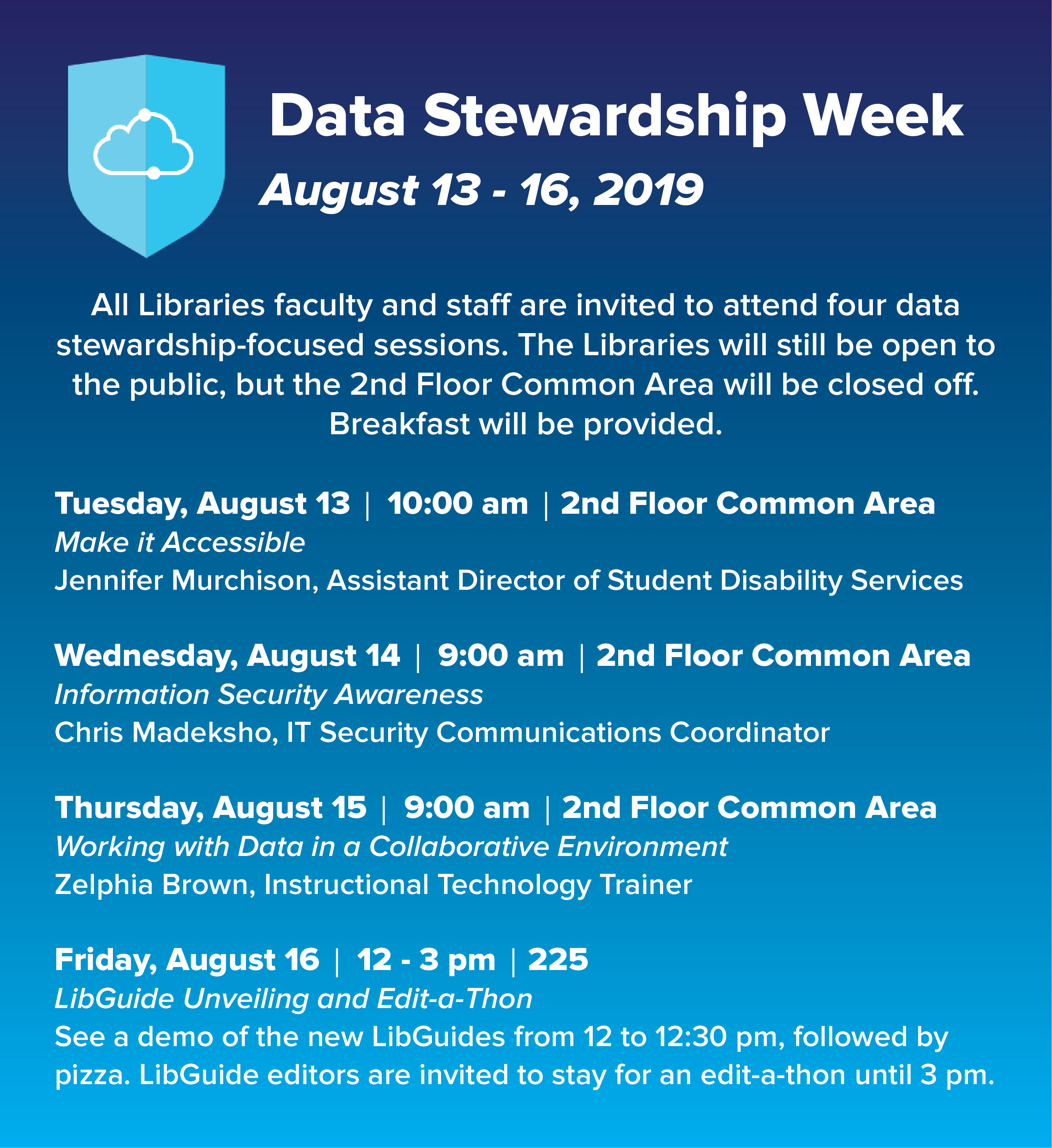 Internal Libraries' Data Stewardship Week Event