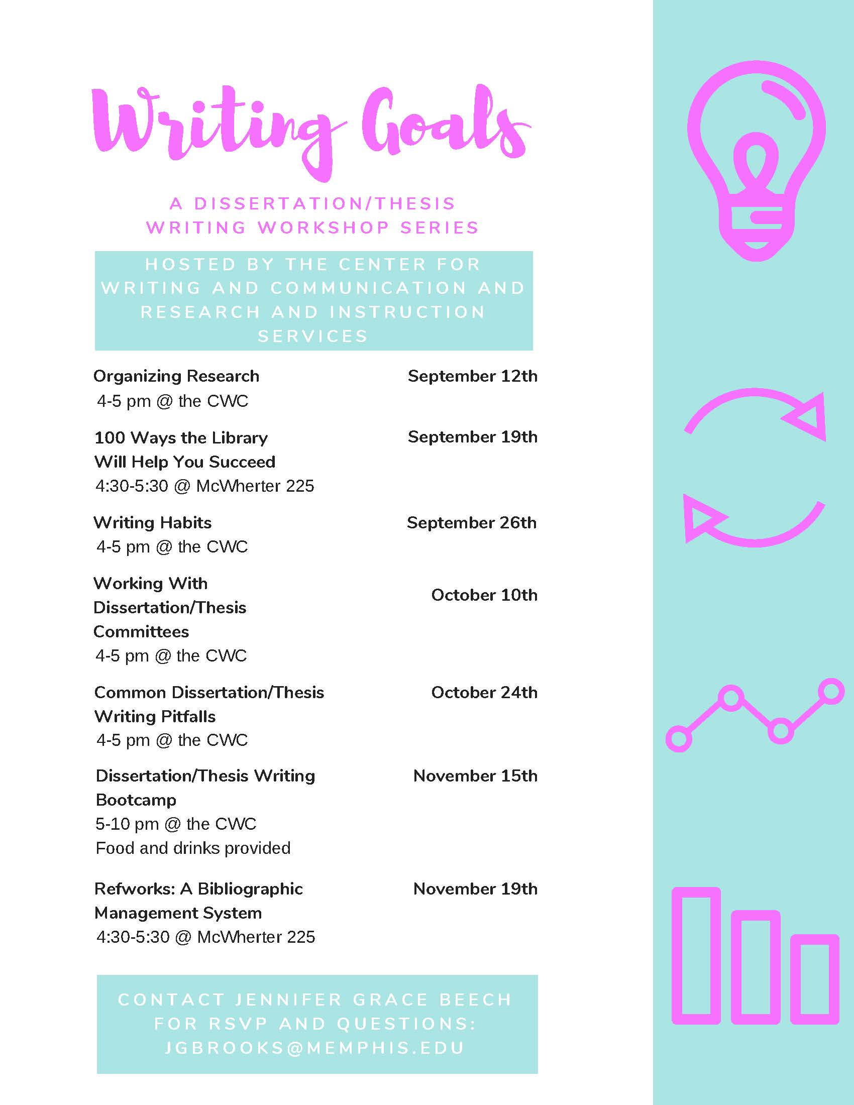 Writing Goals Workshop: 100 Ways the Library Will Help You Succeed