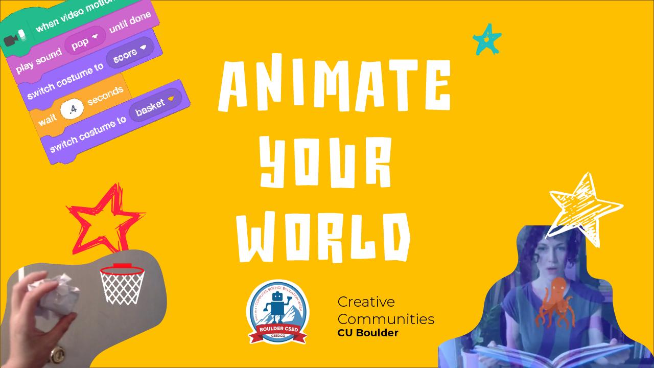 CSED: Animate Your World!