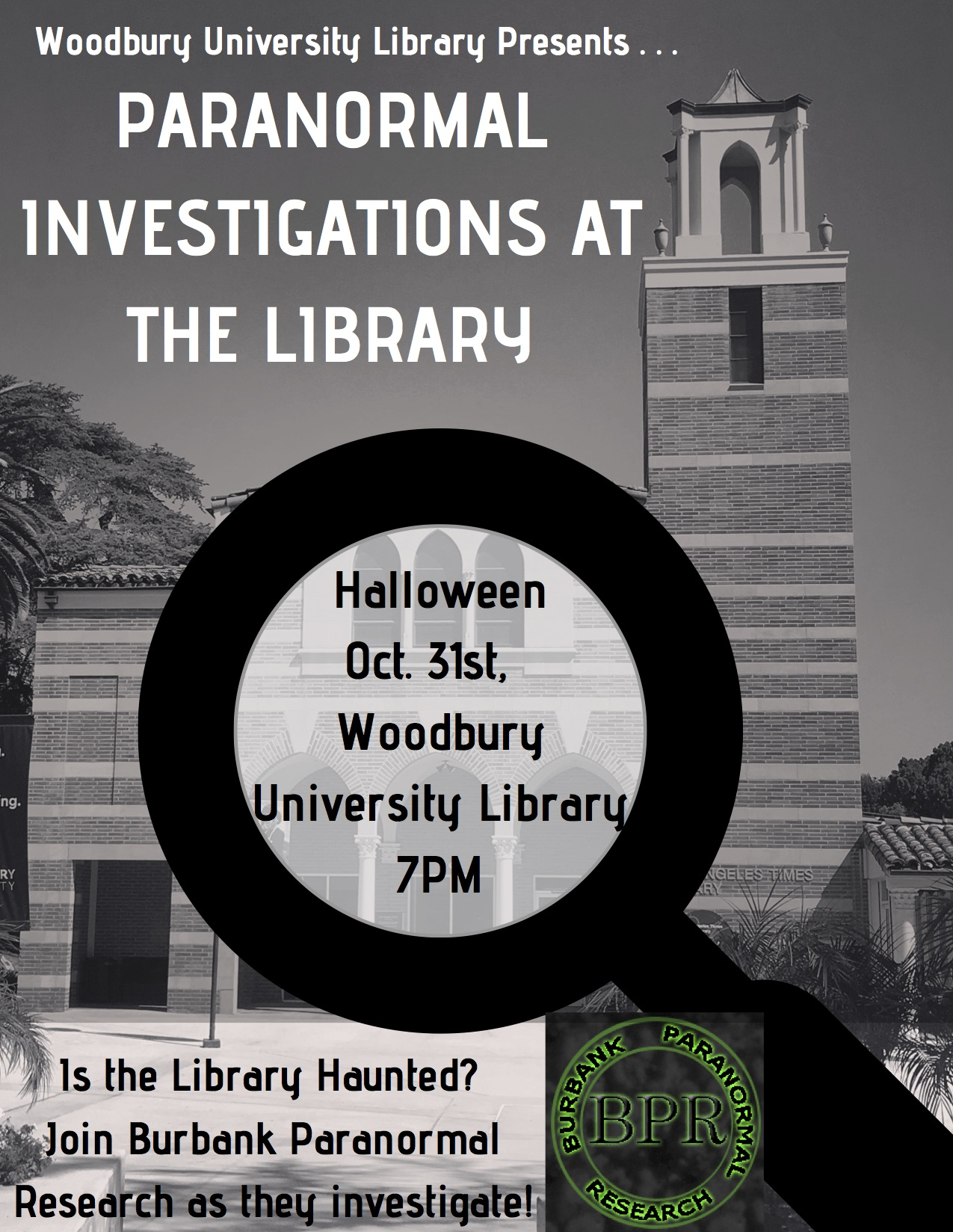 Paranormal Investigations at the Library