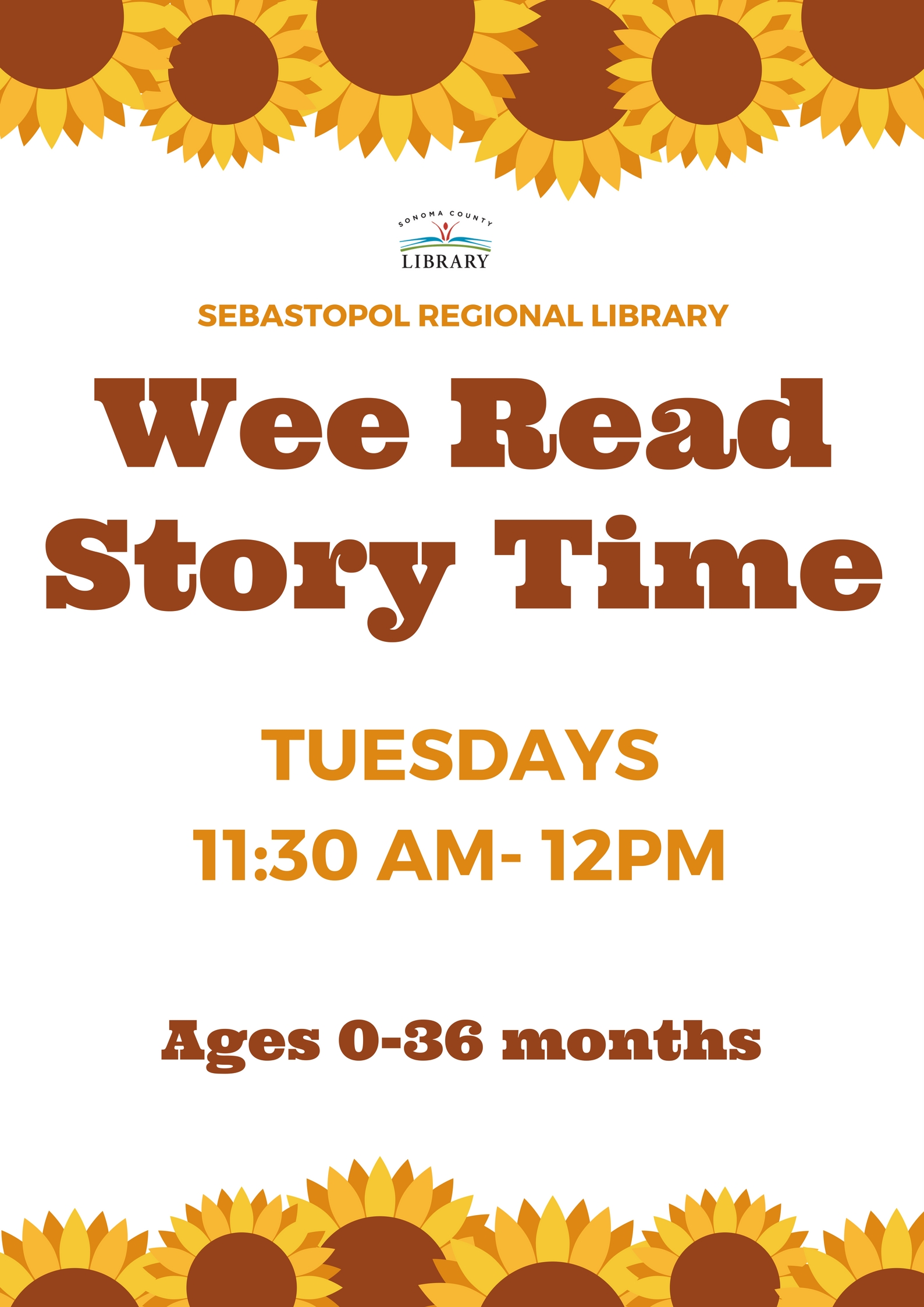 Wee Read Baby-Toddler Storytime (0-36 months)