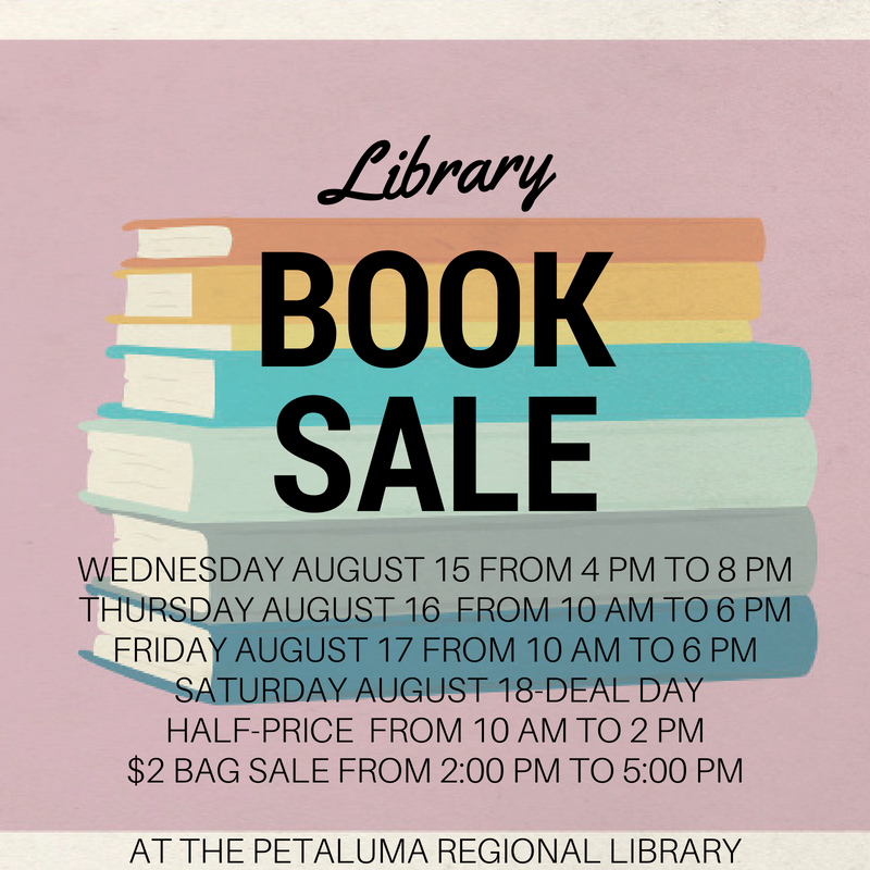 Friends of the Petaluma Library Summer 2018 Book Sale