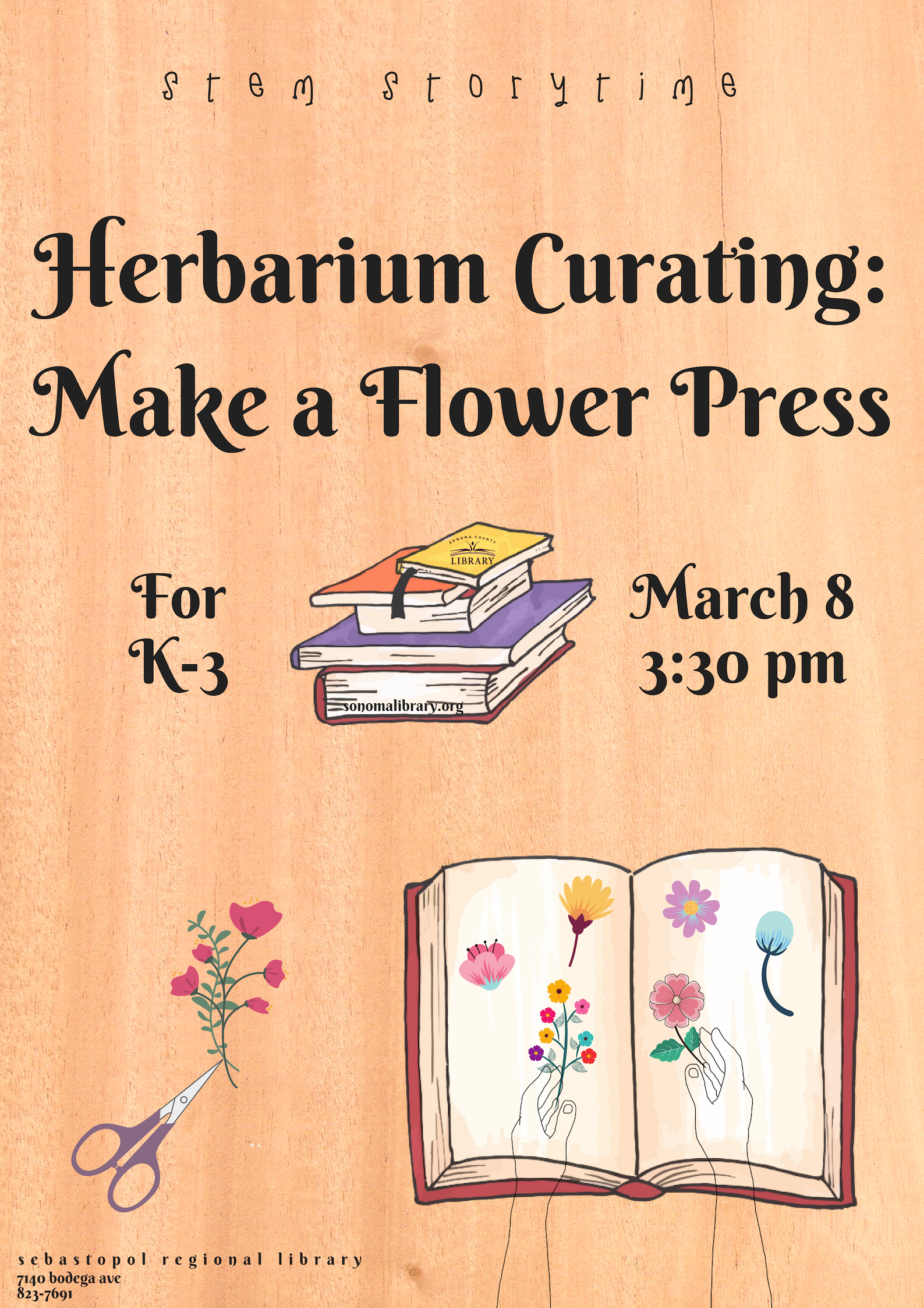 STEM Storytime presents Herbarium Curating: Make a Flower Press
