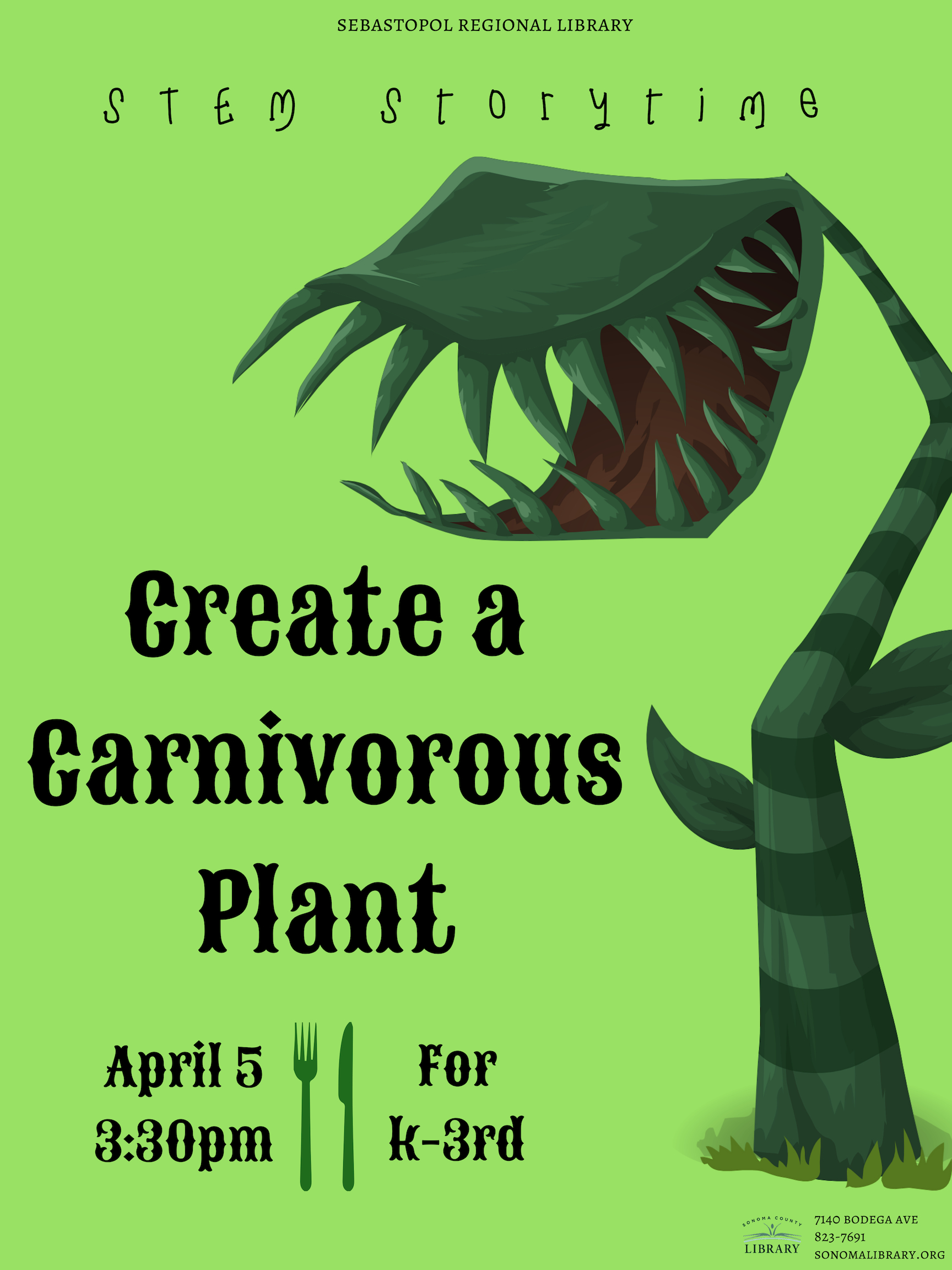 STEM Storytime presents: Create a Carnivorous Plant