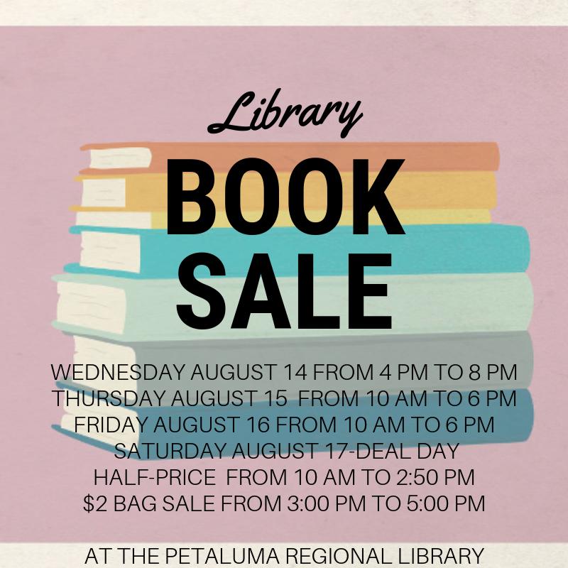 Friends of the Petaluma Library Summer 2019 Book Sale: Deal Day