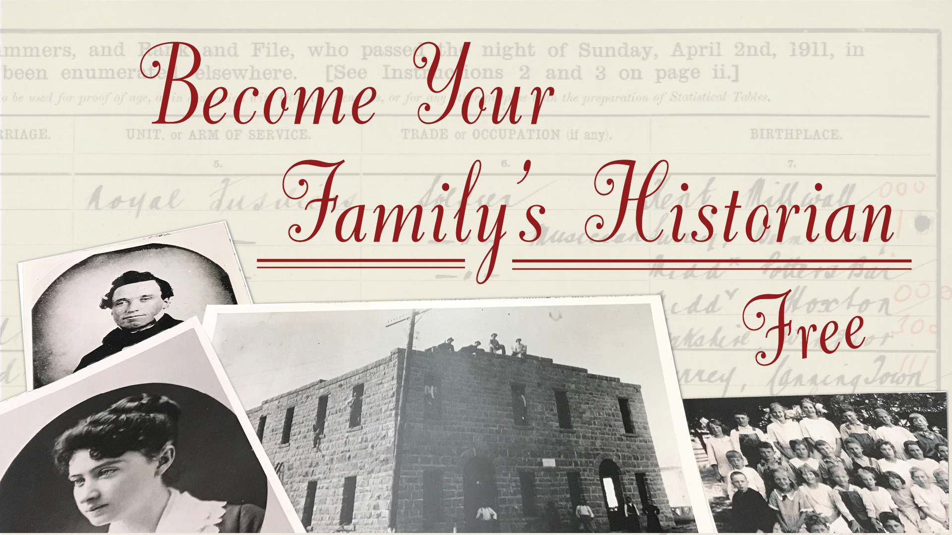 Become Your Family's Historian
