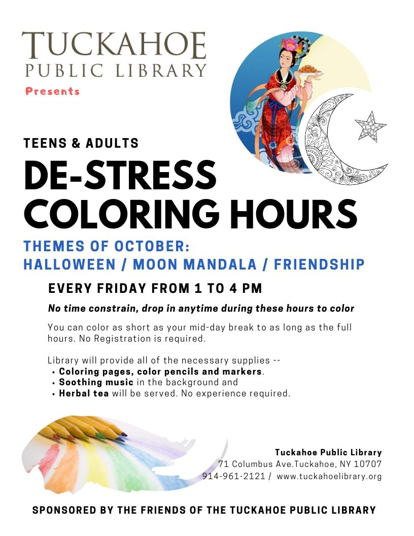 Adult & Teen De-Stress Coloring Time