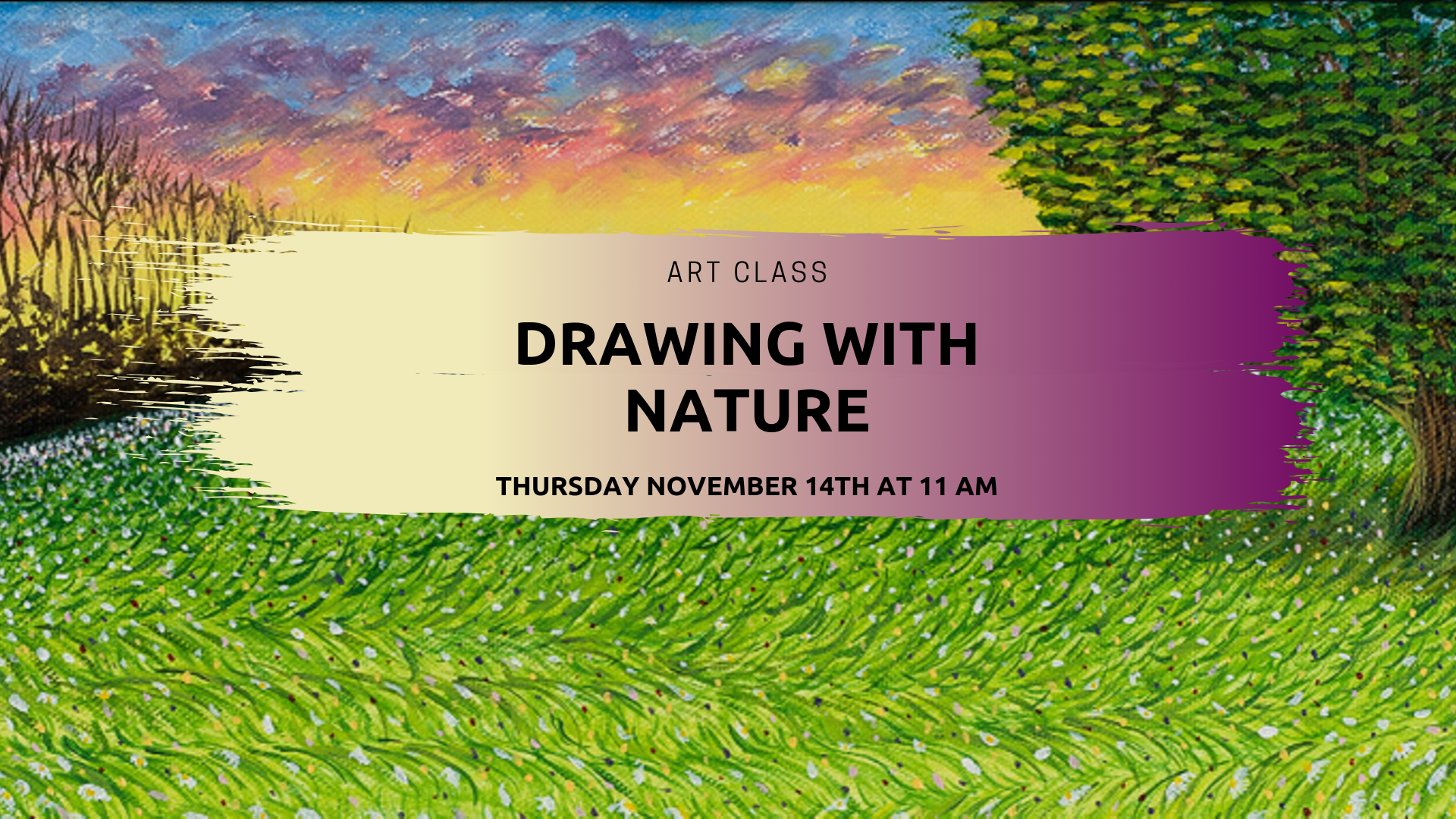 Art Class - Drawing with Nature