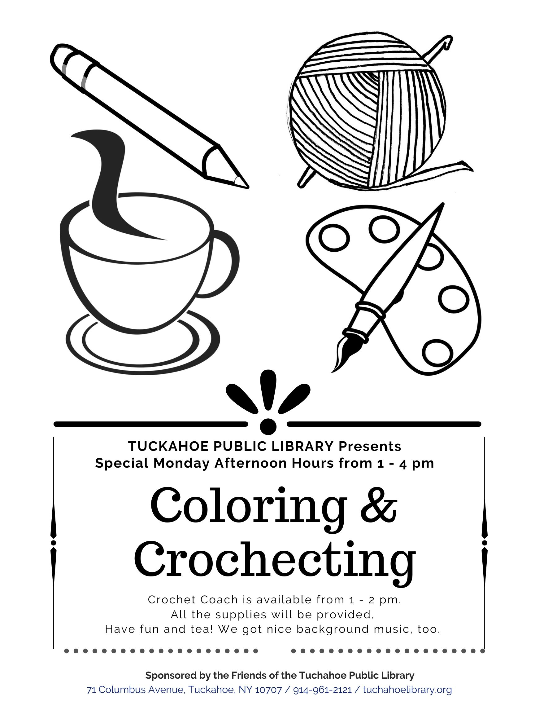 Coloring and Crocheting for Adults and Teens