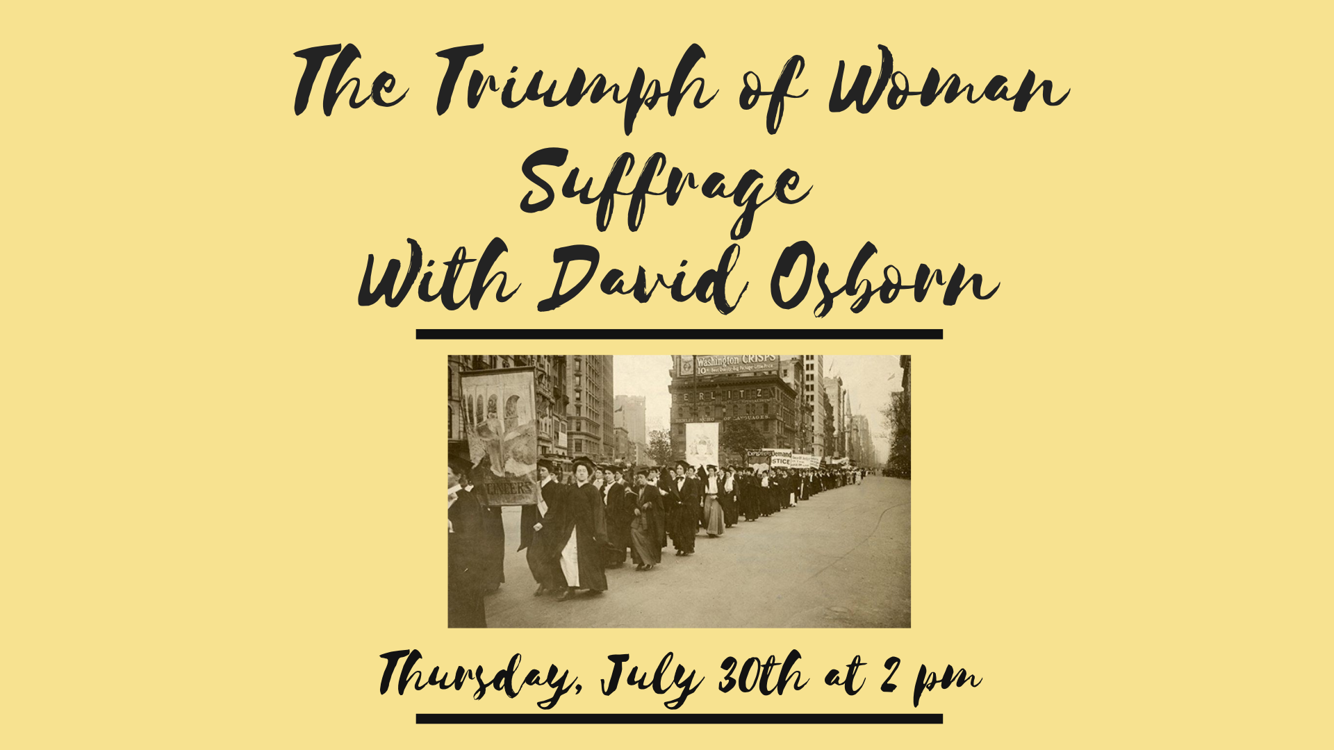 The Triumph of Woman Suffrage with David Osborn, St. Paul's NHS