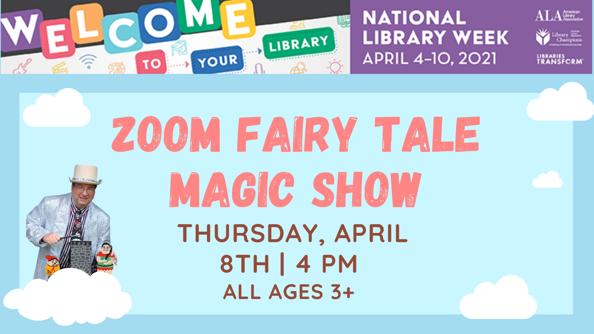 Zoom Fairy Tale Magic Show - All Ages 3+