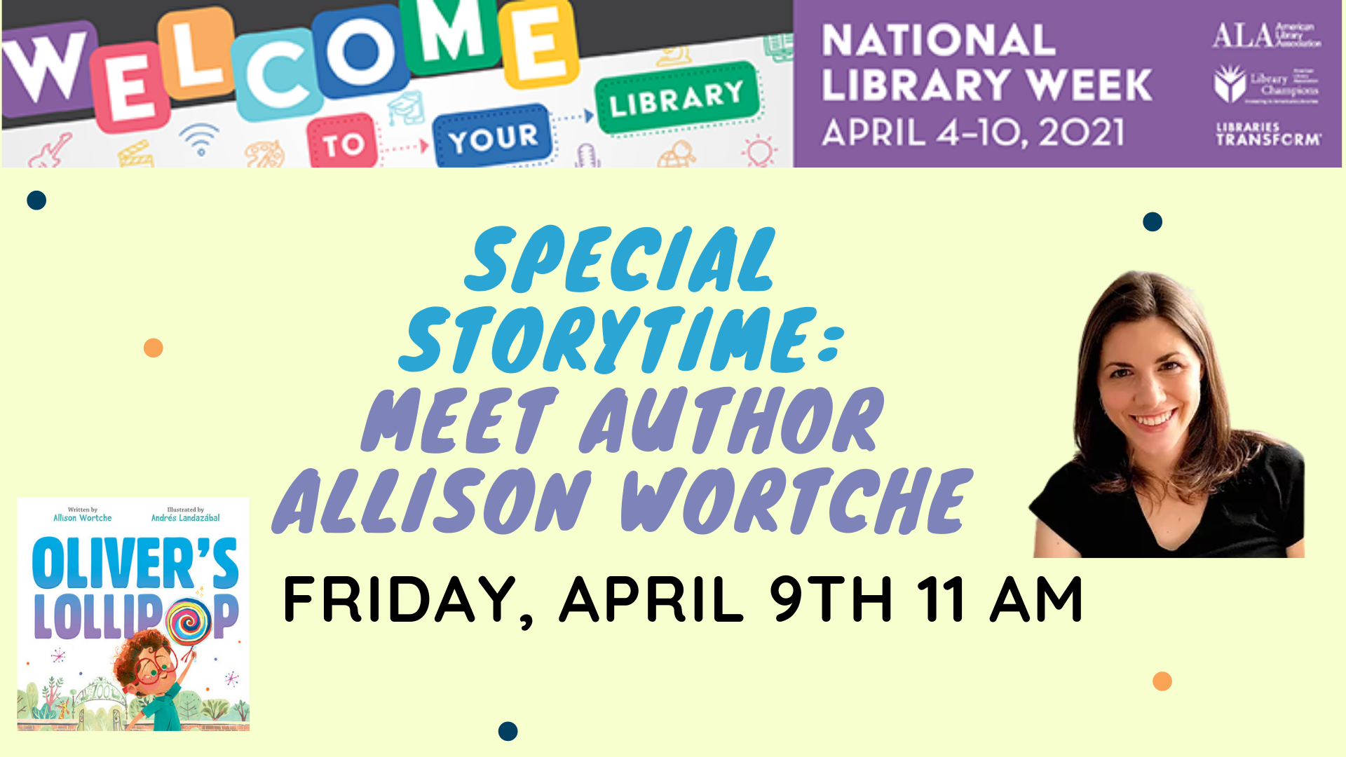 Special Storytime - Meet Author Allison Wortche
