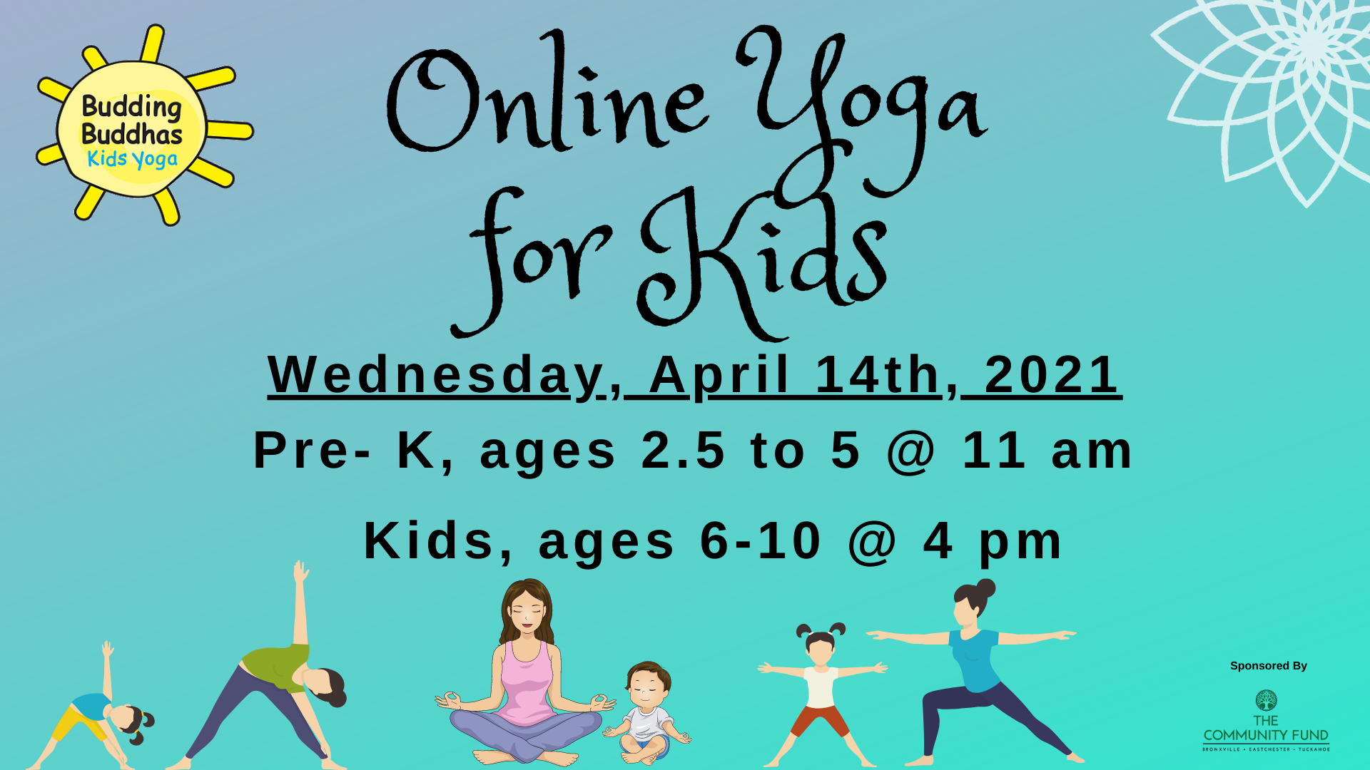Online Kid's Yoga with Budding Buddhas, Ages 6-10 years