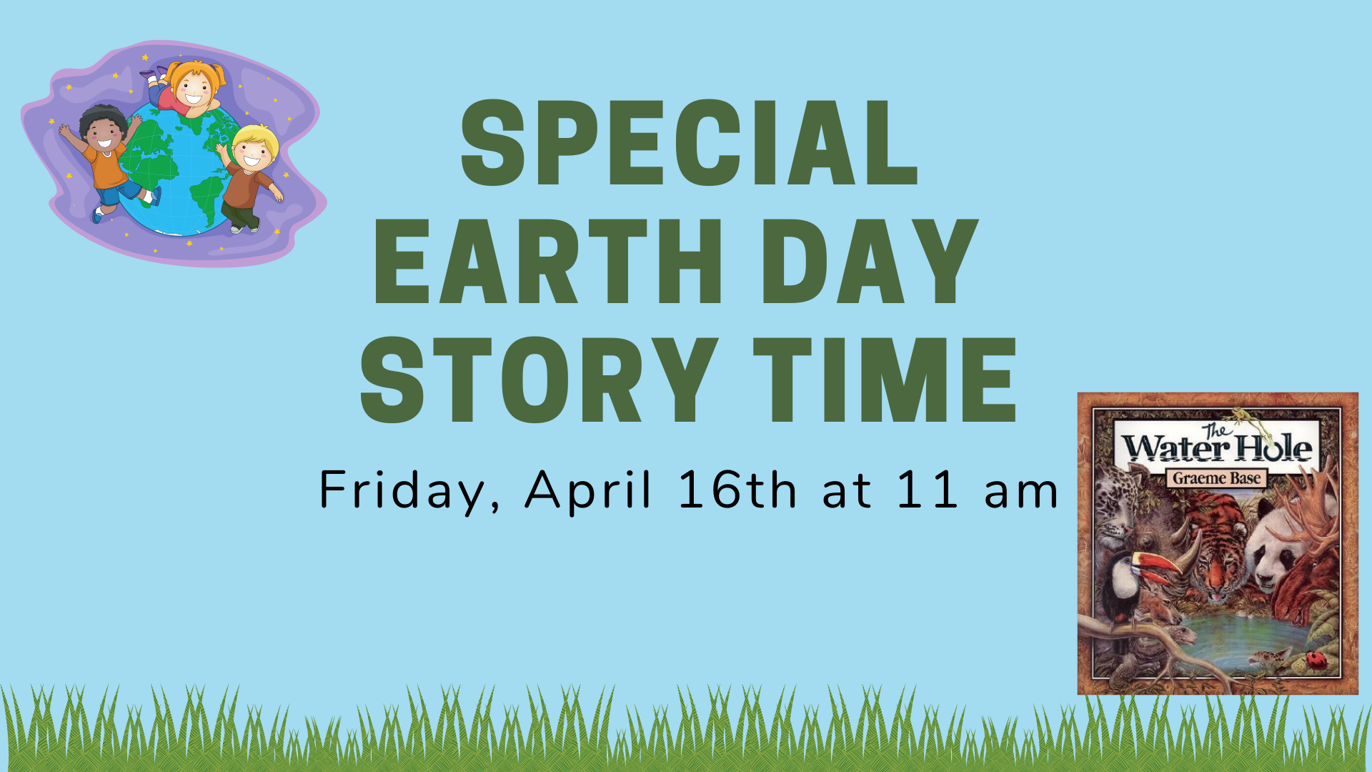 Special Earthday Storytime:  When I Think of Water, Ages 2-7