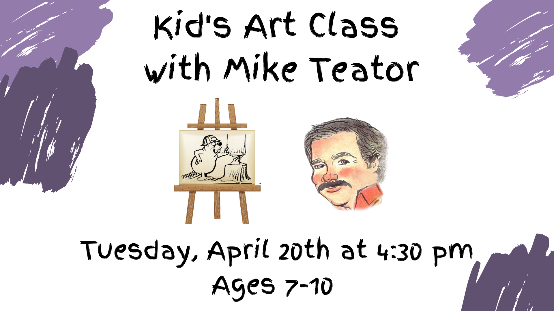 Online Kid's Art with Mike Teator -  Landscape Watercolor Ages 7-10