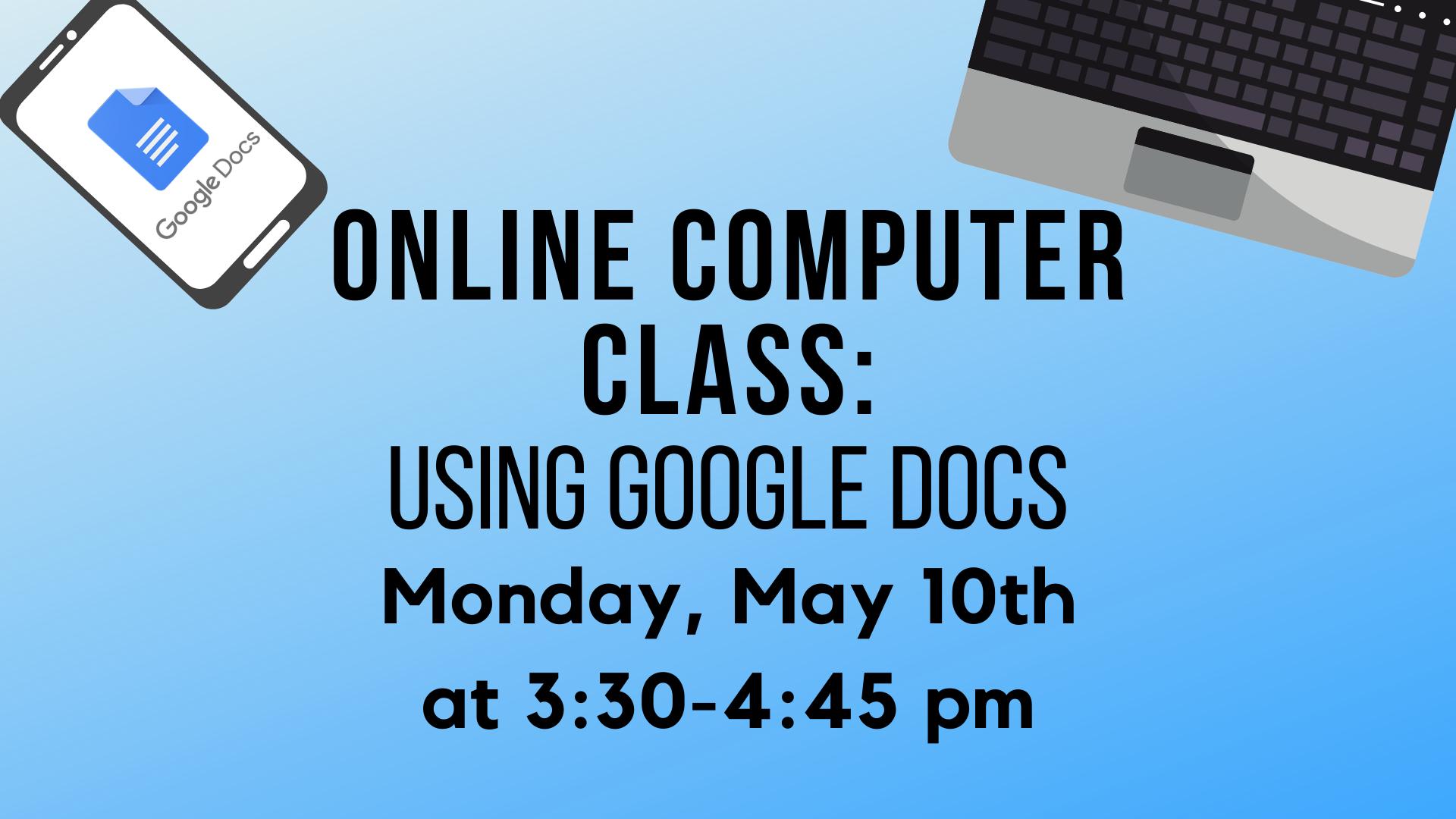 Computer Class - Text Editor Basics - Google Docs 101